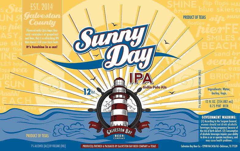 Sunny Day IPA Label