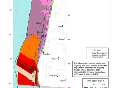 Oregon Offshore Wind Map