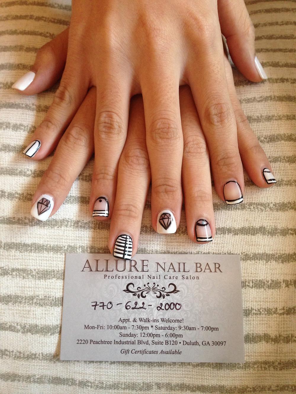 Allure Nail Bar Duluth - Holiday nail art