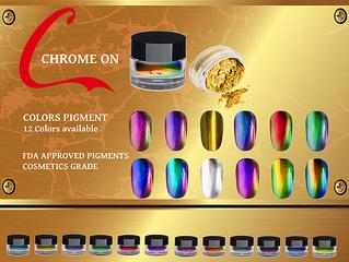 Venus Chrome or Mirror effect nails