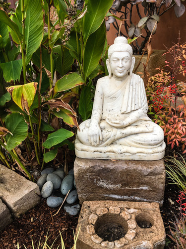 Seated Marble Buddha
