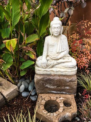 Seated Marble Buddha