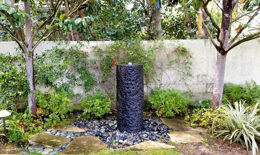 Chiseled Basalt Cylinder