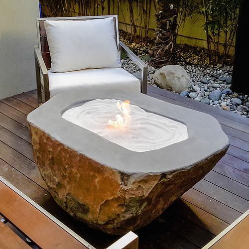 Natural Boulder Fire Pit