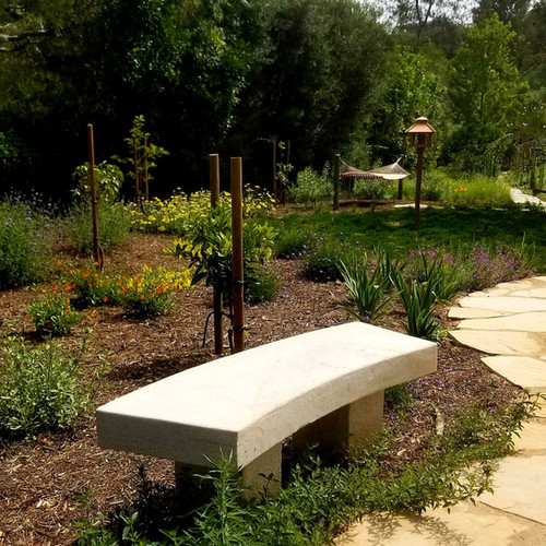 Limestone Curved Bench