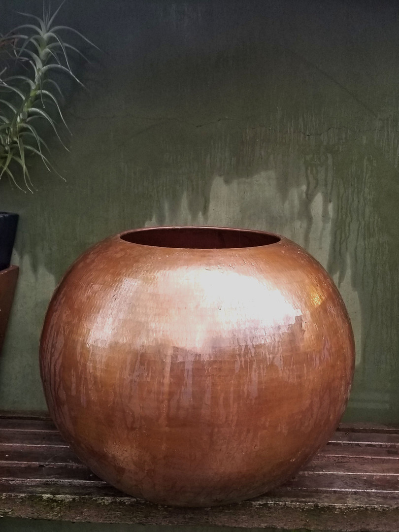 Copper Spherical Planter