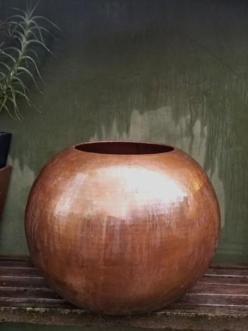 Copper Spherical Planter