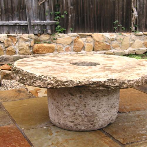 Stone Wheel Table