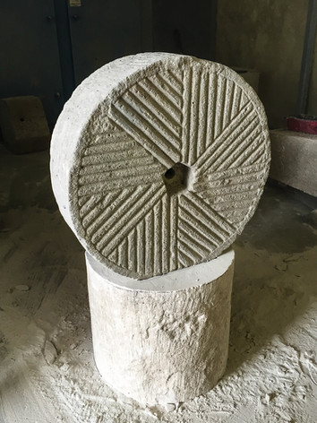 Chiseled Limestone Wheel