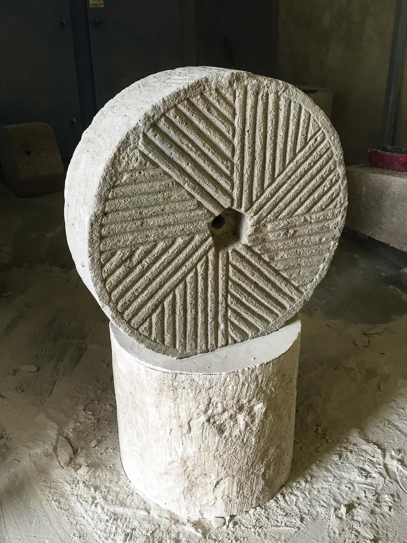 Limestone Wheel on Base