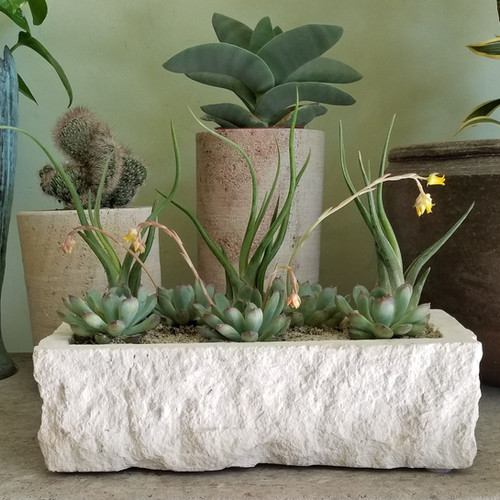 Limestone Trough Planter
