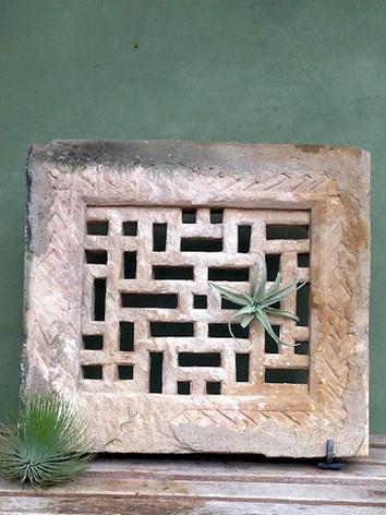 Carved Antique Stone Slab