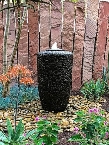 Chiseled Basalt Vase