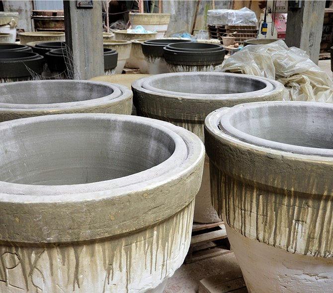 Terracotta Vessels in Moulds