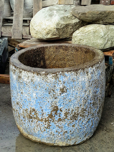 Antique Granite Planter