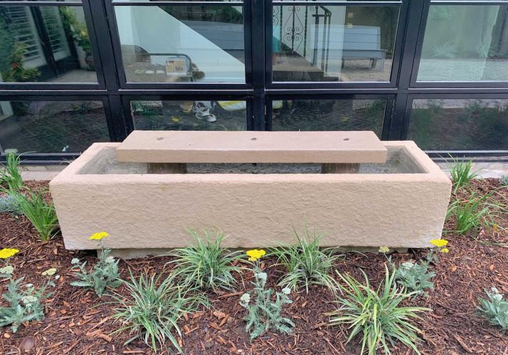 Limestone Trough w/ raised slab