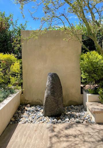 Natural Black Granite Column Fount
