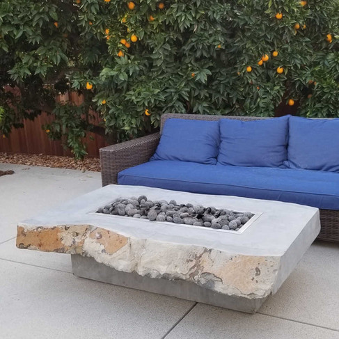 Basalt Slab Fire Table