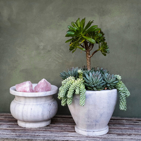 White Marble Planters