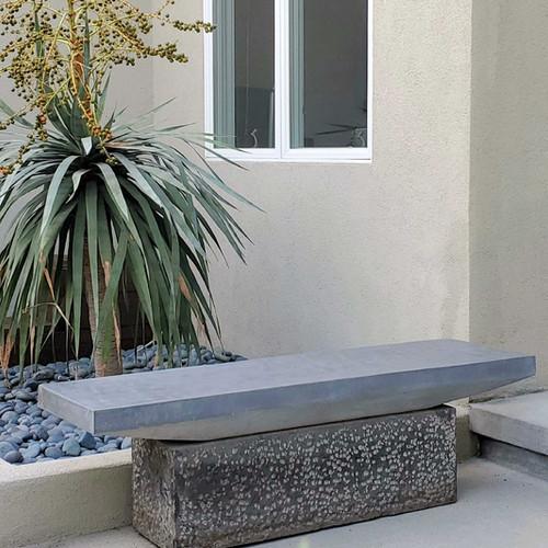 Basalt Slab Bench