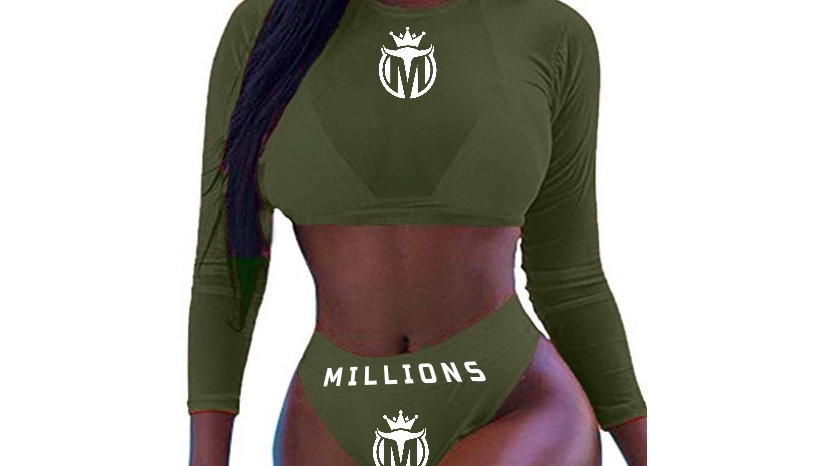 MILLIONS Long Sleeve Mesh 3 Piece