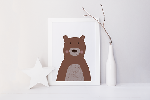 Bear Colour Print