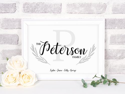Family Surname Print