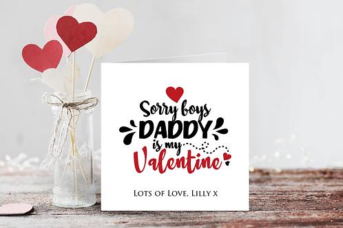 Daddy is my Valentine Card