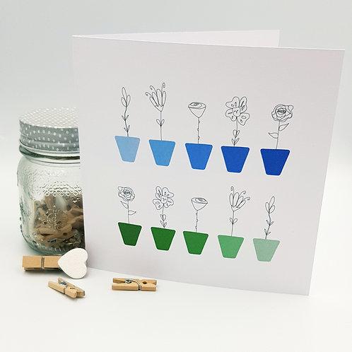 Fineline Flower Pot Card