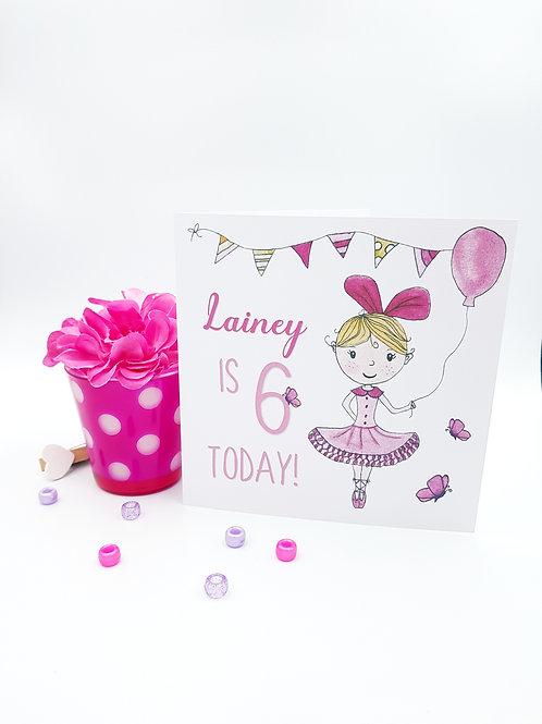 Little Ballerina Card