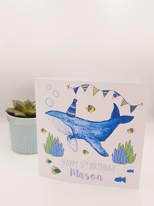 Party Whale Card
