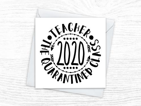 Quarantined Class of 2020 Card