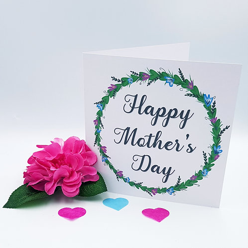 Mother's Day Card - Flower Wreath