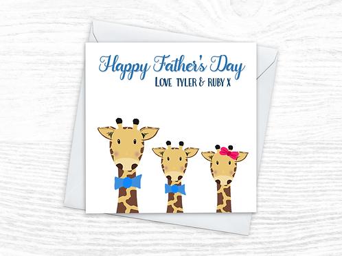 Fathers Day Giraffe Card