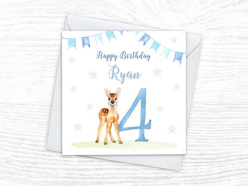 Deer Blue Crown Card