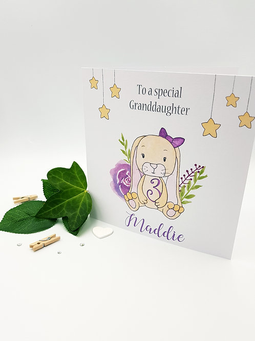 Little Bunny Card (Pink)