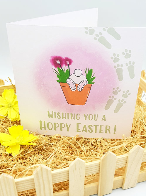 'Hoppy' Easter Card