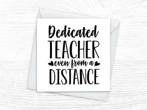 Dedicated Teacher Card
