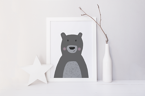 Monochrome Bear Print