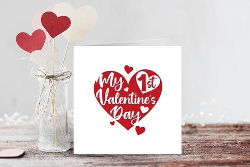 My First Valentine's Heart Card