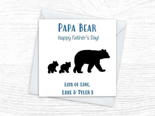 Papa Bear Card - Fathers Day