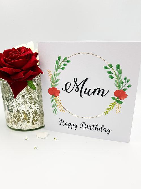 Flower Wreath Card II