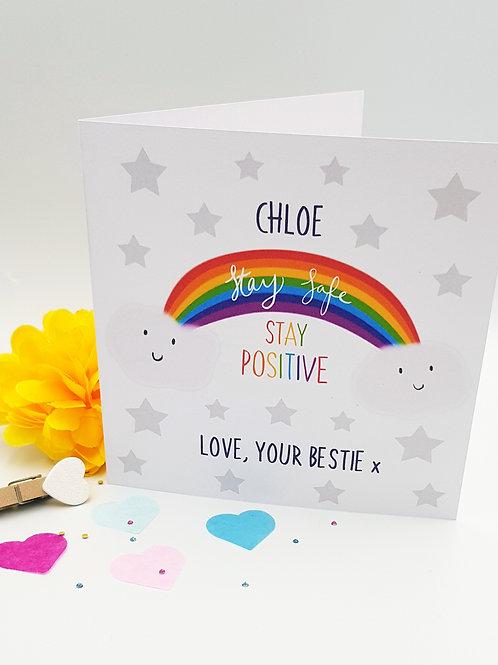 Rainbow - Stay Safe Card