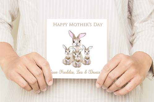 Little Bunny Mothers Day Card