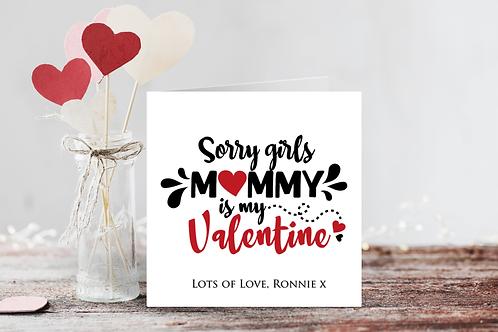 Mummy is my Valentine Card