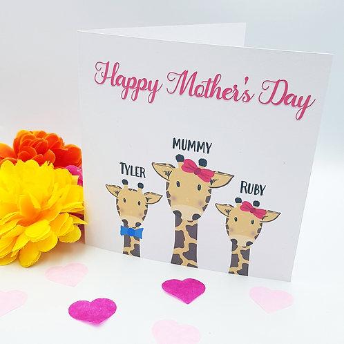 Mother's Day - Giraffe Card