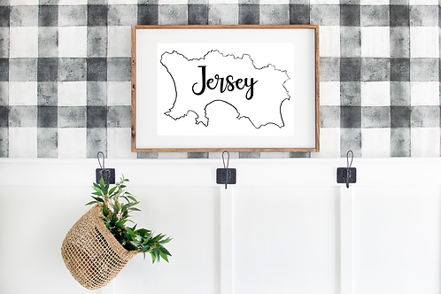 Jersey Print - Island Outline