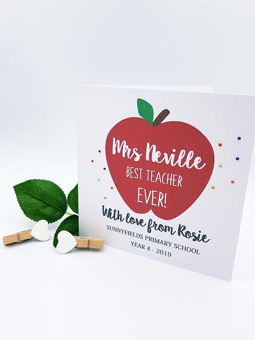 Apple Teachers Card