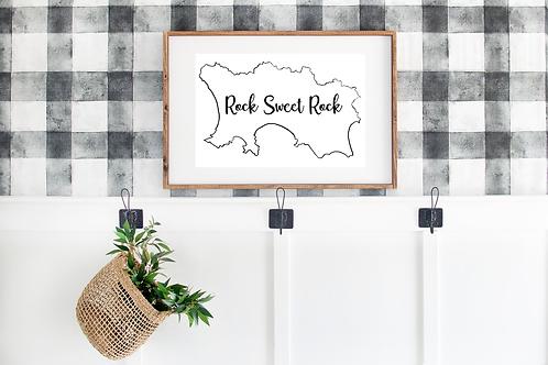 Jersey Print - 'Rock Sweet Rock' Print