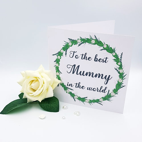 Mother's Day - White Flower Wreath